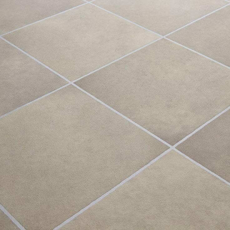 Mardi gras 535 durango stone tile effect vinyl for Lino bathroom floor tiles