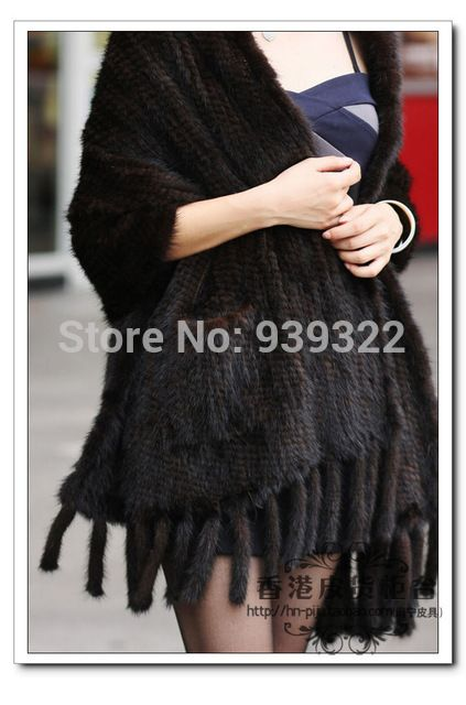 Female Knitted Real Mink Fur Scarf Winter Neck Wrap Women Warmer Fashion Natural Fur Shawl US $73.99-75.99 To Buy Or See Another Product Click On This Link  http://goo.gl/yekAoR