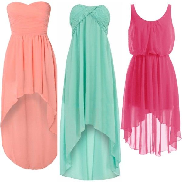 Lovee: Summer Dresses, Mint Green, High Low Dresses, Style, Highlow, Color, Bridesmaid Dresses, Hot Pink, Low Cut Dresses