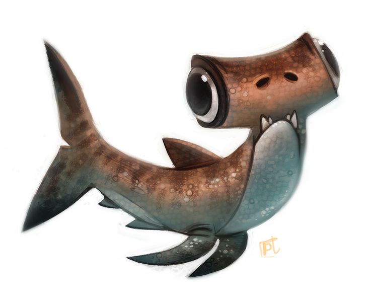 Daily Paint #632 - Hammerderp Shark by Cryptid-Creations ★ || CHARACTER DESIGN REFERENCES (www.facebook.com/CharacterDesignReferences & pinterest.com/characterdesigh) • Love Character Design? Join the Character Design Challenge (link→ www.facebook.com/groups/CharacterDesignChallenge) Share your unique vision of a theme every month, promote your art and make new friends in a community of over 20.000 artists! || ★