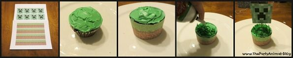 FREE Printable Minecraft Cupcake Toppers and Wrappers   ThePartyAnimal-Blog