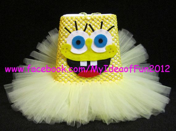 Spongebob Halloween Tutu Costume by MyIdeaOfFun on Etsy, $20.00