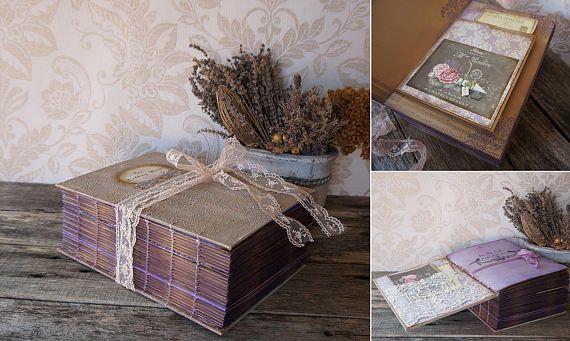 Rustic Lavender Wedding Album Rustic Photo album