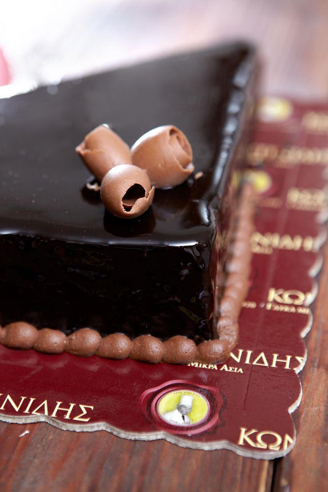 Τούρτα με μαύρη σοκολάτα....for bitter Chocolate lovers!