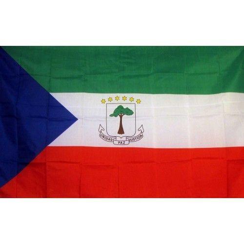 Equatorial Guinea Country Traditional Flag