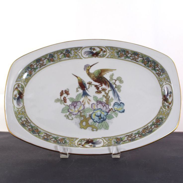 Birds of Paridise Platter by EPIAG First Bohemian Porcelain Industry by Hallingtons on Etsy