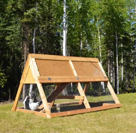I want to make this!  DIY Furniture Plan from Ana-White.com  How to build A Frame Chicken Coop! Free plans from Ana-White.com! DIY for less than $100!
