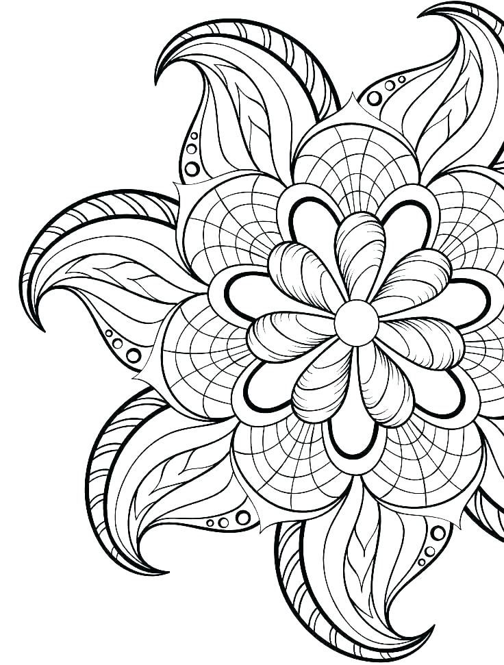 Pin On Abstract Flower Coloring Pages