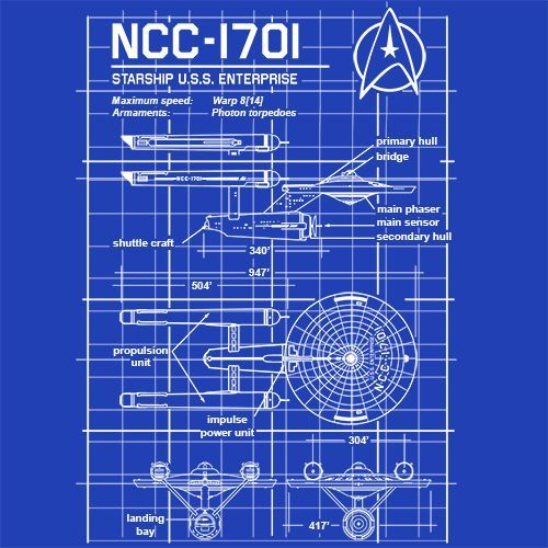 USS Enterprise T-Shirt More Info Behind USS Enterprise T-Shirt The USS Enterprise (NCC-1701) is a starship in the fictional Star Trek universe, depicted in four network television series, six feature