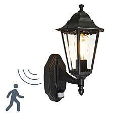 Fabulous Au enleuchte New Orleans up schwarz mit Bewegungsmelder Lampe Au enbeleuchtung Gartenbeleuchtung Wandleuchte