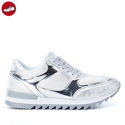 XTI Damen 046991 Sneakers, Versilbert (Silber), 40 EU (*Partner-Link)