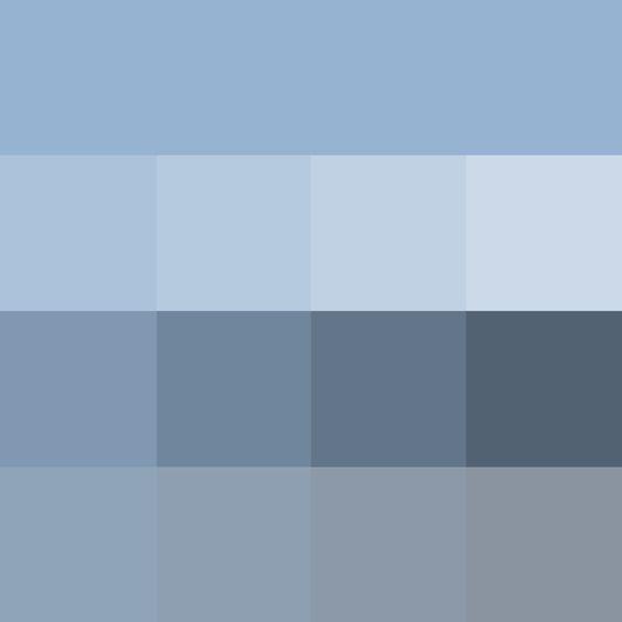 Farbpalette Des Sommer Farbtyps! Verwandte Farbtöne