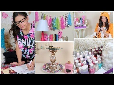 Украшения для комнаты своими руками от Бетани Мота - YouTube