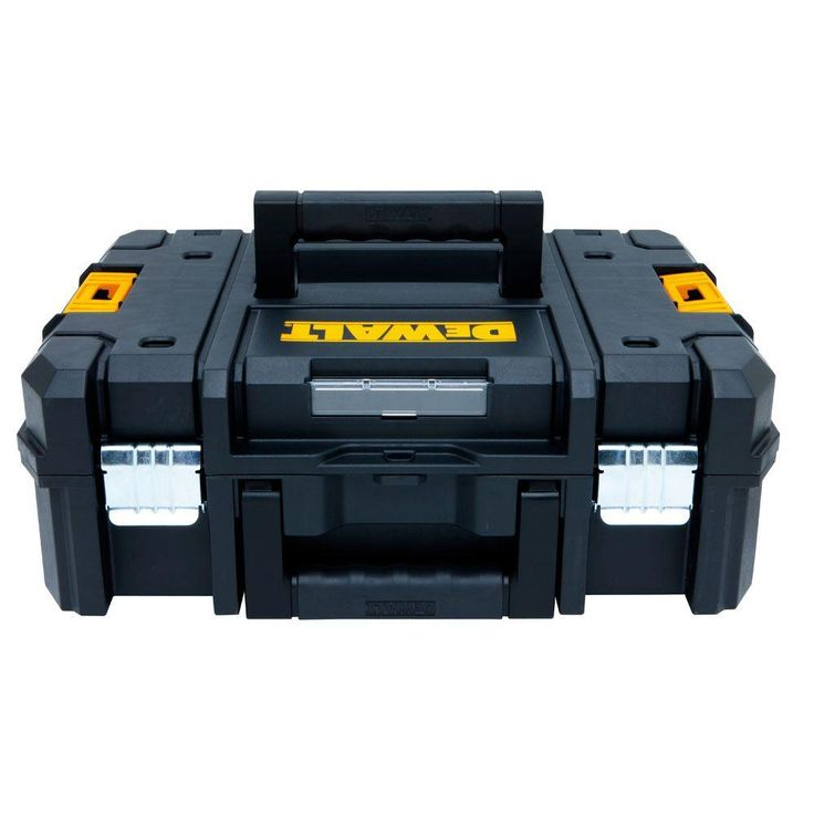 DEWALT TSTAK II 13 in. 1-Compartment Flat Top Stackable Tool Box-DWST17807 - The Home Depot