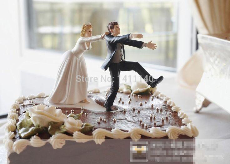 """Goedkope """"Komen back"""" bruid en bruidegom grappige bruiloft cake topper gepersonaliseerde cake toppers in event en feestartikelen gratis verzending, koop Kwaliteit Event& party benodigdheden rechtstreeks van Leveranciers van China: 2015 nieuwe"""" terug te komen"""" grappig bruid en bruidegom bruidstaart topper beeldjes met gratis verzending decoraties ges"""