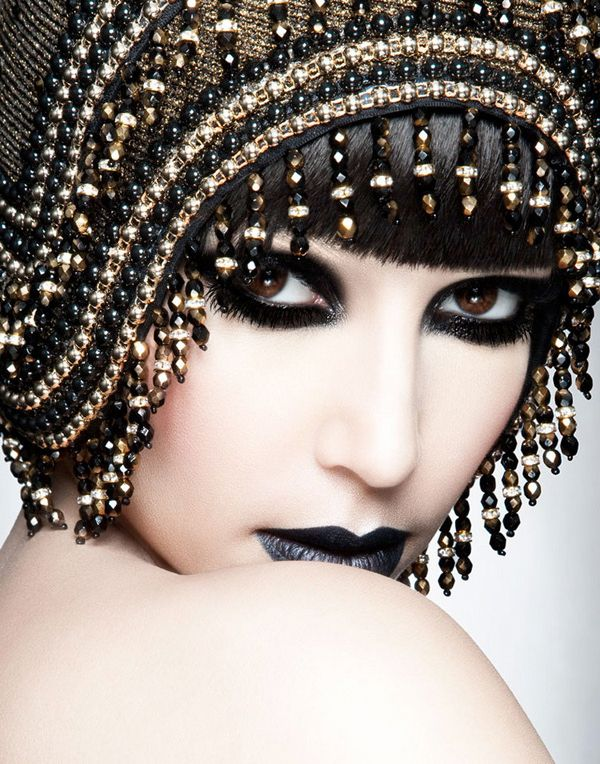 Gothic Beaded Headress...I don't need to tell you how insane and badass this is...do I?