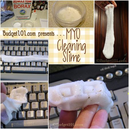 Budget101.com - - Easy Cleaning Slime | Cleaning Slime | Homemade Cleaning Recipes | DIY Cleaners