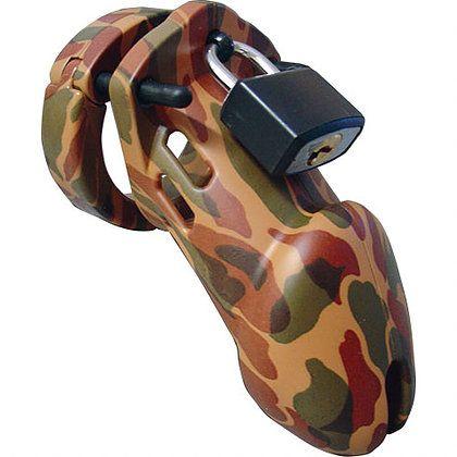 CB-6000 Keuschheitskäfig - Camouflage - 35 mm