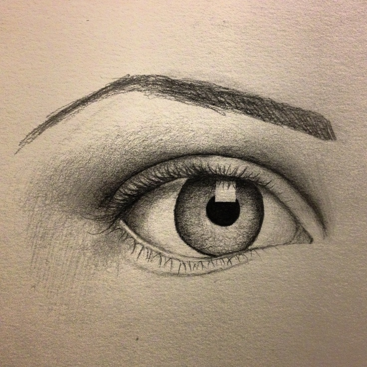 Eye sketch - artist: Pamela White