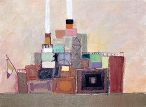 Artiste Colle Chic créations : Monique Guillot, un travail avant tout dans la matière. Des couleurs subtiles inspirées par le soleil du Midi où elle travaille. Découvrez ses mini tableaux