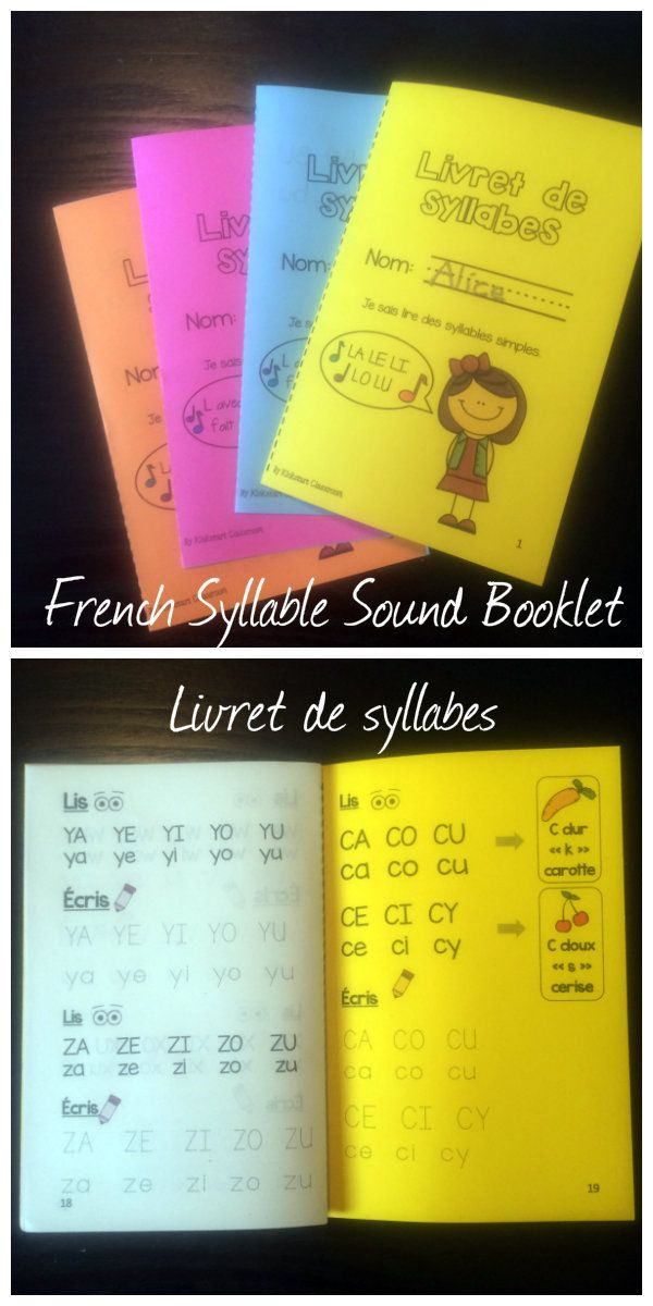 French Syllable Sound Booklet - Livret de syllabes