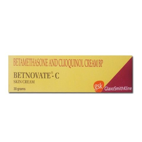 BETNOVATE C CREAM - Generic Name - BETAMETHASONE + CLIOQUINOL Commonly Used for - Eczema, prurigo nodularis, psoriasis (excluding widespread plaque psoriasis), neurodermatoses including lichen simplex, lichen planus, seborrhoeic dermatitis, contact sensitivity reactions, insect bite reactions, prickly heat, anal and genital intertrigo, otitis externa. Prescription skincare online. Lister Cosmetics!!