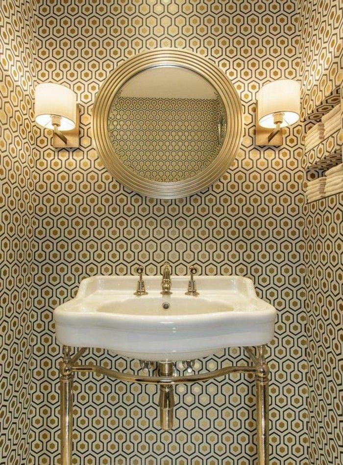 Tapeten Ideen Fur Eine Ausgefallene Wandgestaltung Badezimmer Tapete Badezimmer Im Erdgeschoss Und Badezimmer