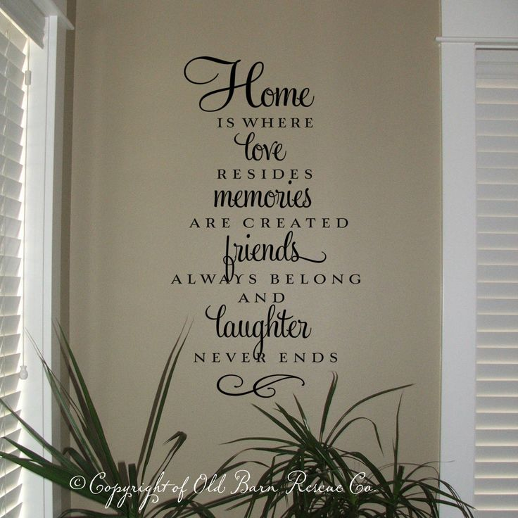 Vinyl Wall Decal  Home is where love by OldBarnRescueCompany, $34.00