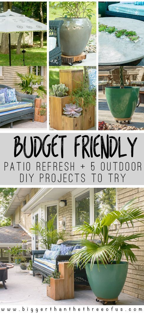 Budget Friendly Patio Refresh 5 Outdoor projects