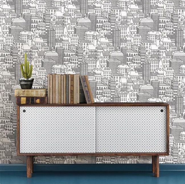 Peel And Stick Cityscape Wallpaper Removable For Rentals In 2020 Wallpaper Furniture Furniture Luxury Furniture Design