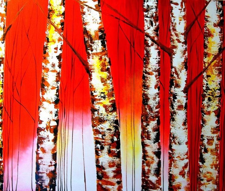 Oleo sobre tela  100 x 120 cms      Se hacen pinturas del mismo estilo según las medidas que se necesiten, mediante propuestas específicas para cada ambiente y espacio.    Contactar mediante Witoi o visitar www.eileenlunecke.com    Despachos a todo Chile.