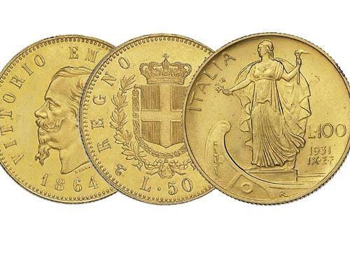 Monete oro italiane