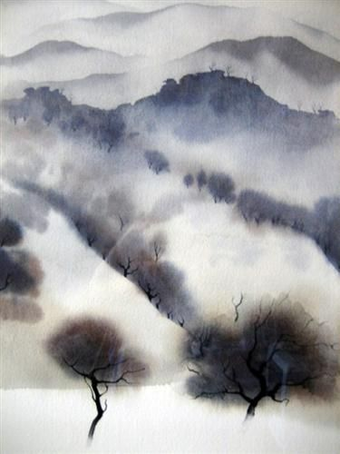 elpasha71:   Eyvind Earle  California landscape - Una Lady italiana