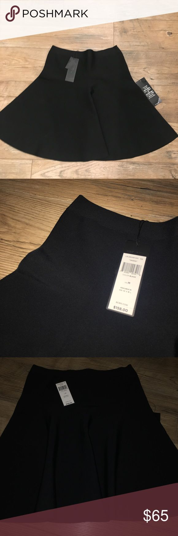 BCBGMAXAZRIA SKIRT! Black stretchy BCBGMAXAZRIA skirt! Extremely good for an professional environment and is made out of rayon! BNWT! Price is negotiable BCBGMaxAzria Skirts Midi