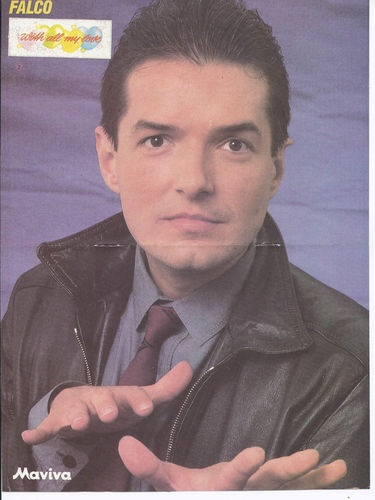 OLD ORIGINAL POSTER FROM GREEK MAGAZINE  -  FALCO / AT THE BACK DON JOHNSON