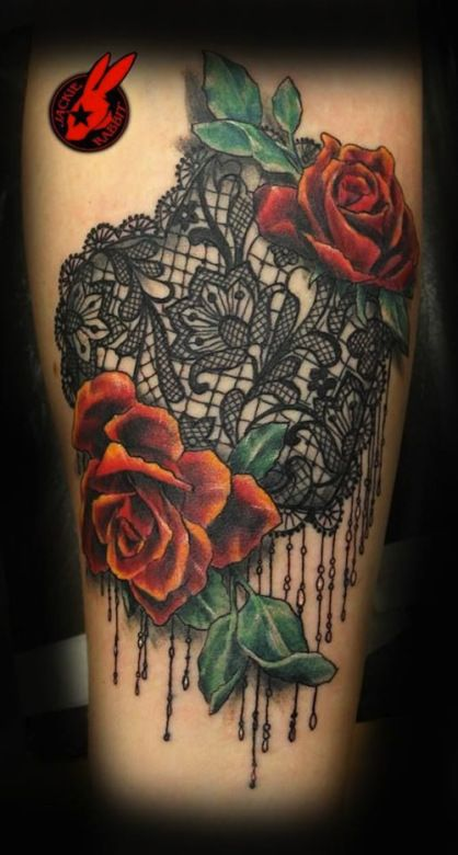 Lace Tattoos - Inked Magazine Artist: Jackie Rabbit, also has a deviantart profile. Awesome tat artist!