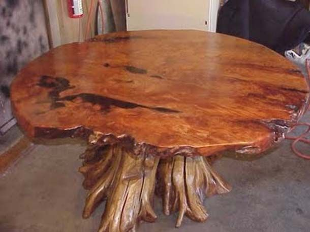 Constructing Log Furniture | Big Table Of Tree Roots