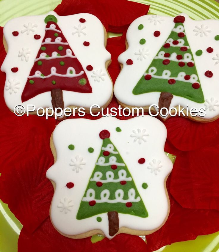 Christmas Tree Decorated Cookies: 17 Best Images About Christmas Trees Decorated Cookies And