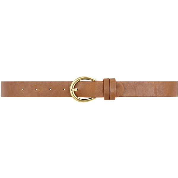 Tan moon buckle jeans belt ($9) ❤ liked on Polyvore
