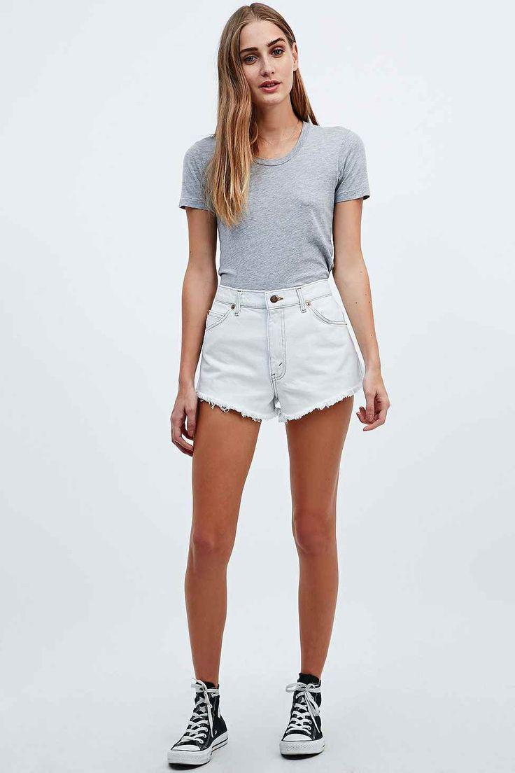Urban Renewal Vintage Originals Bleached Raw-Cut Shorts