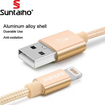 Suntaiho For iPhone 7 6 Plus 6S 5 5S USB Charger Nylon Braided Cable For Lightning Fast Charging Data Sync Mobile Phone Cable   Price: 2.30 USD