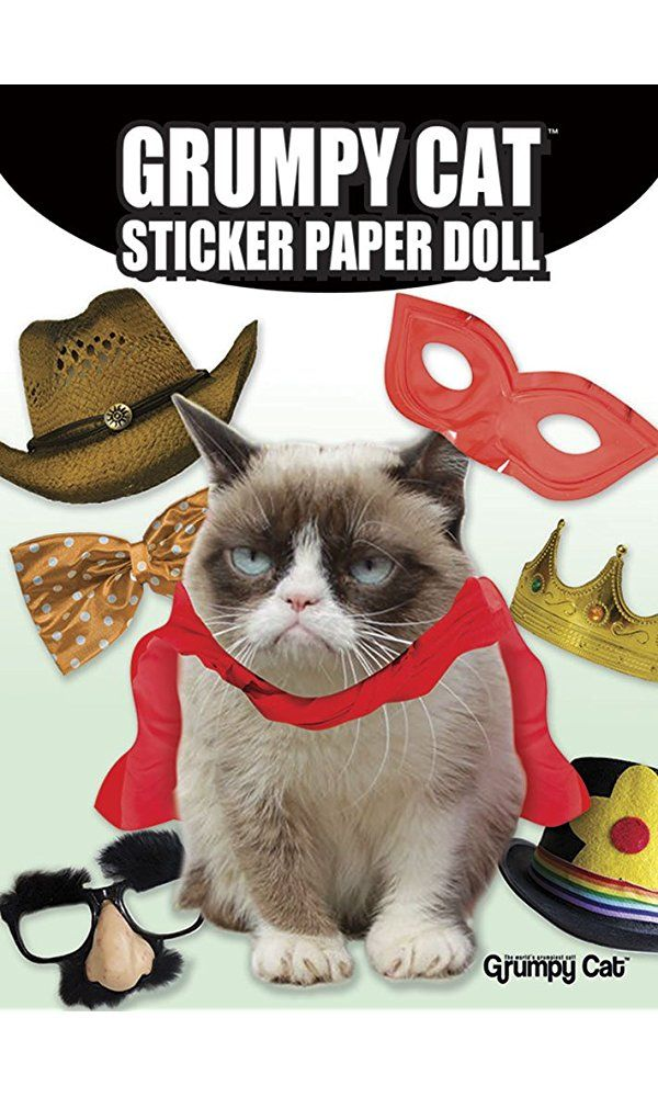grumpy cat wedding invitations%0A Grumpy Cat Sticker Paper Doll Best Price