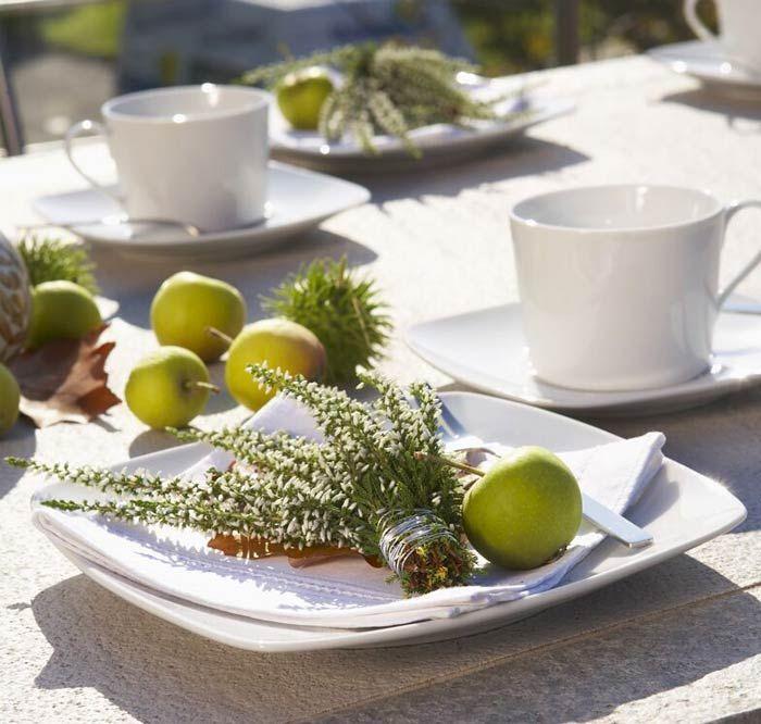Smarte Tischdekoration - Heidetrends