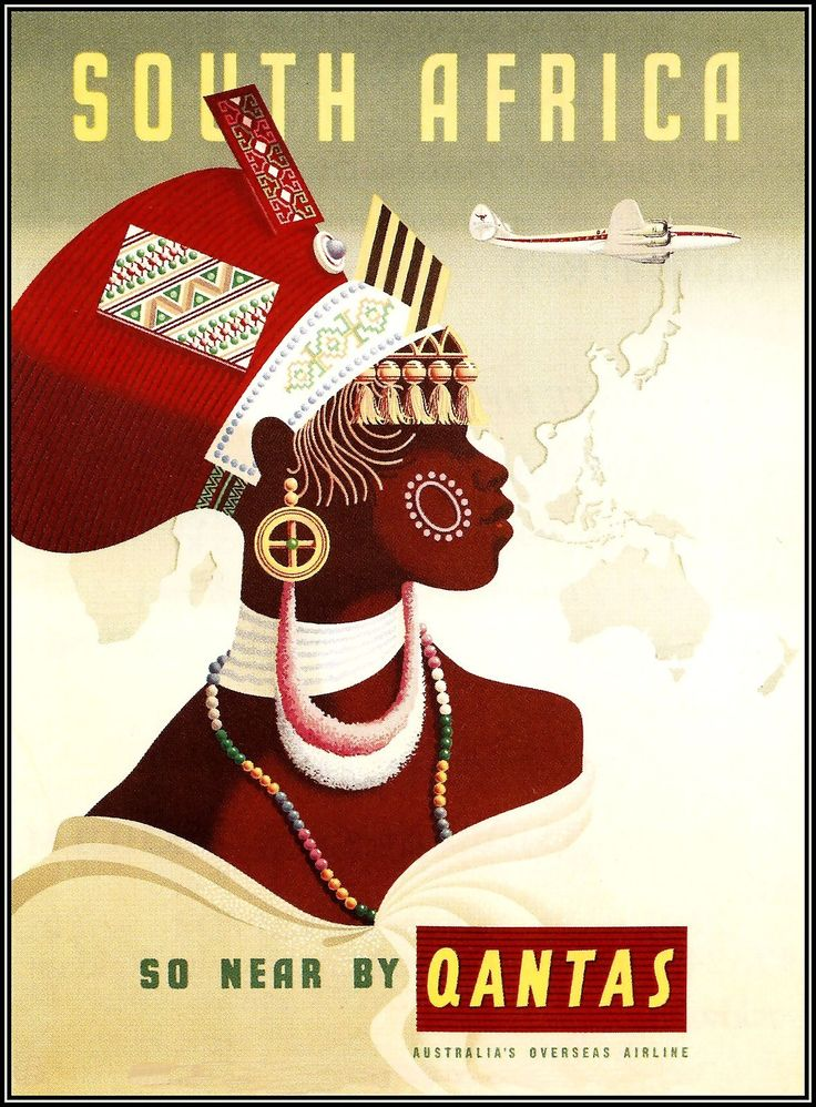 South Africa by Qantas #travel #poster