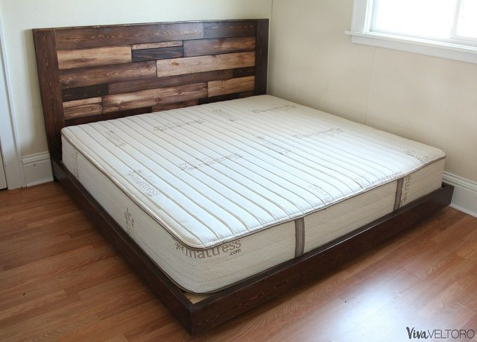 Make A Wooden Headboard For Less Than 50 Step By Step Instructions Cheap Diy Headboard Diy Platform Bed Wooden Bed Frame Diy