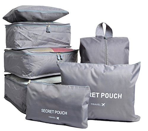 7 Set Travel Cubes,5 Colors Waterproof Mesh Durable Luggage Packing Organizers,1 Travel Shoe Bag,6 Set Packing Cubes (Gray). For product info go to:  https://all4hiking.com/products/7-set-travel-cubes5-colors-waterproof-mesh-durable-luggage-packing-organizers1-travel-shoe-bag6-set-packing-cubes-gray/