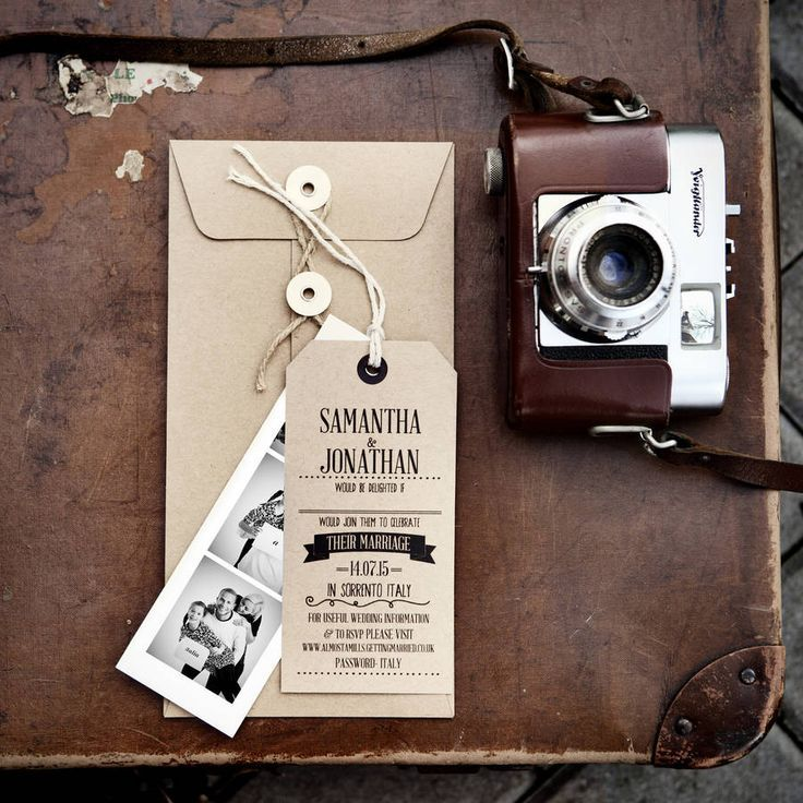 how to put guest names on wedding invitations%0A Are you interested in our luggage tag wedding invite  With our Photo Booth  strip invite you need look no further