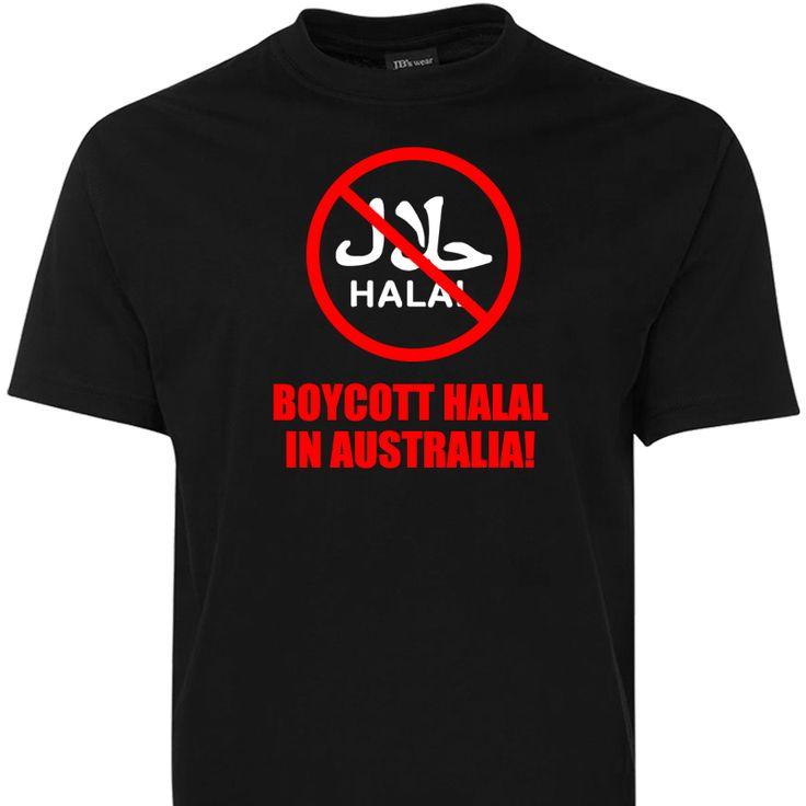 Boycott Halal in Australia T Shirt
