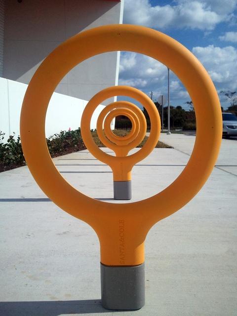 Bike Rack by Spanish designers Santa & Cole. Installed at Fort Lauderdale, Fla.