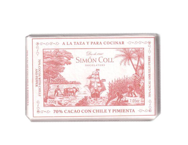 Simon Coll 200g. Ciocolata calda A LA TAZA 70% cacao cu piper